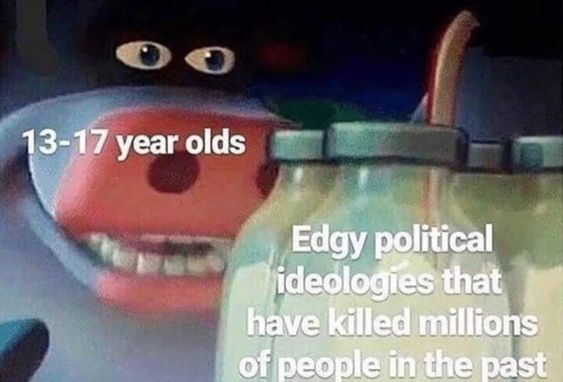 Tooth - 13-17 year olds Edgy political ideologies that have killed millions of people in the past