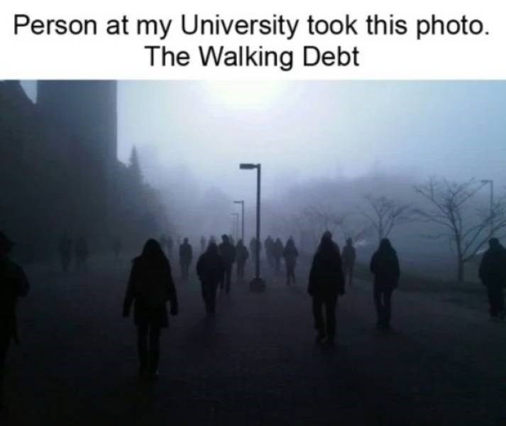 Atmospheric phenomenon - Person at my University took this photo. The Walking Debt