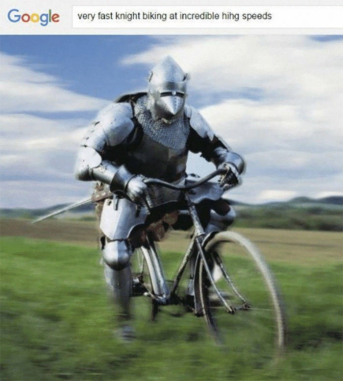 Cycling - Google very fast knight biking at incredible hihg speeds