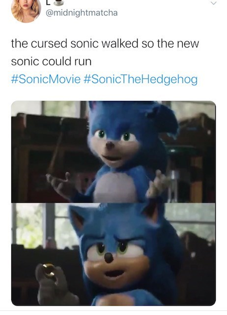 Animation - @midnightmatcha the cursed sonic walked so the new sonic could run #SonicMovie #SonicTheHedgehog