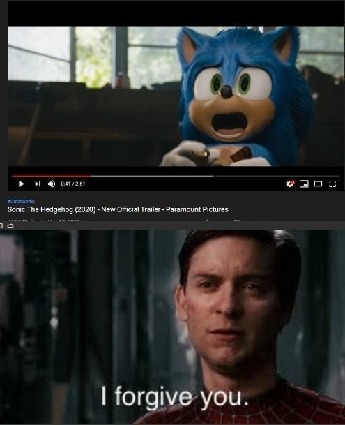 Head - 041/2:51 Catchionic Sonic The Hedgehog (2020)- New Official Trailer- Paramount Pictures I forgive you.