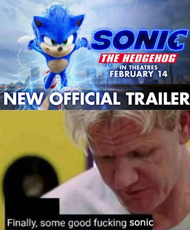 Cartoon - SONIC THE HEDGEHOG IN THEATRES FEBRUARY 14 NEW OFFICIAL TRAILER Finally, some good fucking sonic