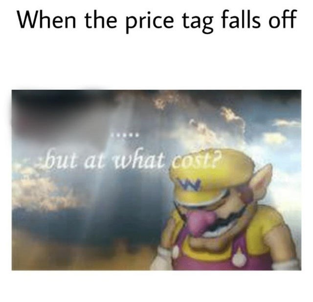 Text - When the price tag falls off but at what cost?