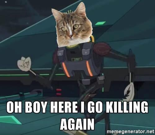 Whiskers - OH BOY HERE I GO KILLING AGAIN memegenerator.net