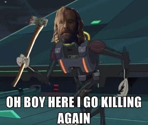 Fictional character - OH BOY HERE I GO KILLING AGAIN