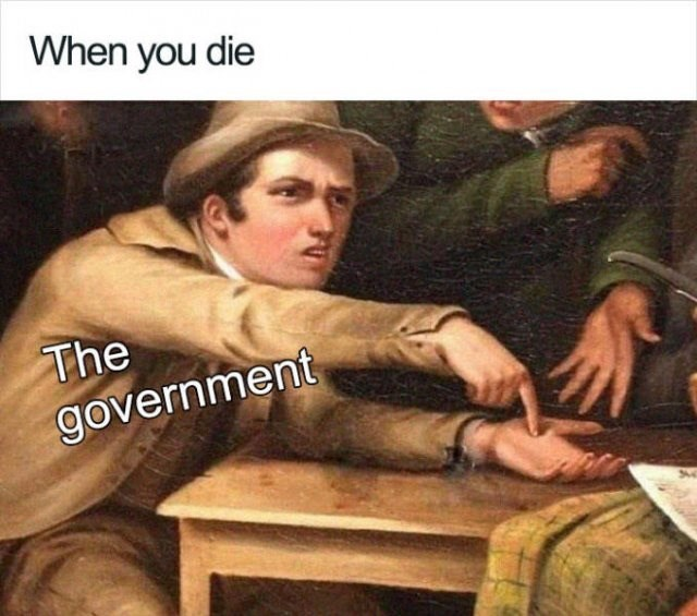 Art - When you die The government