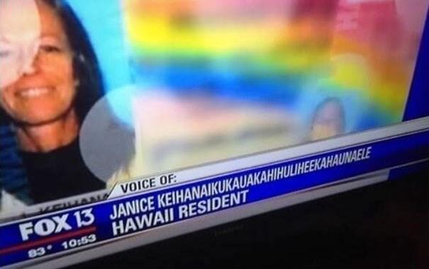 News - VOICE OF FOX 13 JANICE KEIHANAIKUKAUAKAHIHULIHEEKAHAUNAELE HAWAII RESIDENT 83 10:53