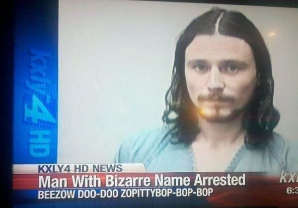 Face - KXLY4 HD NEWS Man With Bizarre Name Arrested BEEZOW DOO-DOO ZOPITTYBOP-BOP-BOP kx 6:3 Kdiy 4 HD