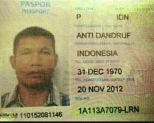 Identity document - PASPOR PASSPORT P IDN ANTI DANDRUF INDONESIA 31 DEC 1970 20 NOV 2012 1A113A7079-LRN NKM 110152081146