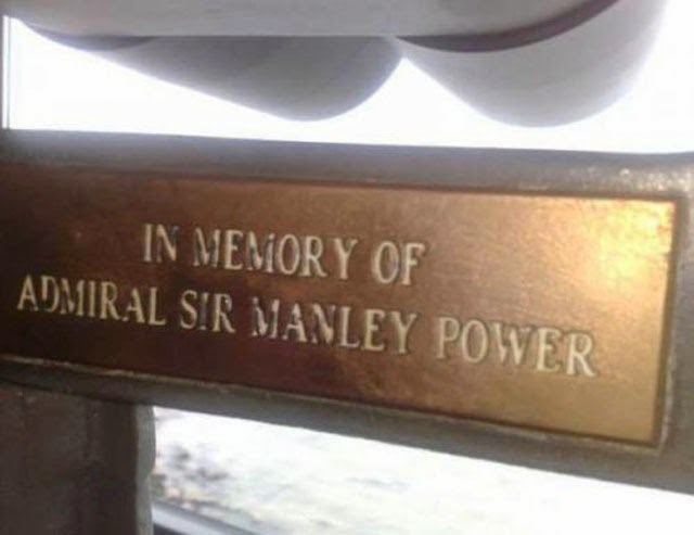 Font - IN MEMORY OF ADMIRAL SIR MANLEY POWER