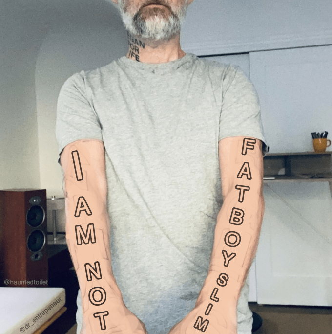 Tattoo - @hauntedtoilet @dr_entrepeneur LATB OBLIM AMNOT