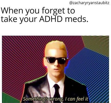 Eyewear - @zacharyryanstaubitz When you forget to take your ADHD meds. Something's wrong Ican feel it