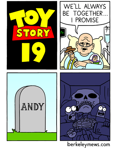 Comics - WE'LL ALWAYS BE TOGETHER... I PROMISE TOY STORY 19 ANDY berkeleymews.com