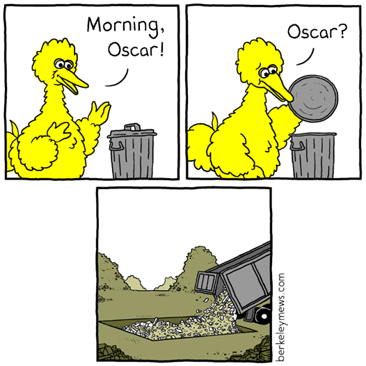 Cartoon - Morning. Oscar! Oscar? berkeleymews.com