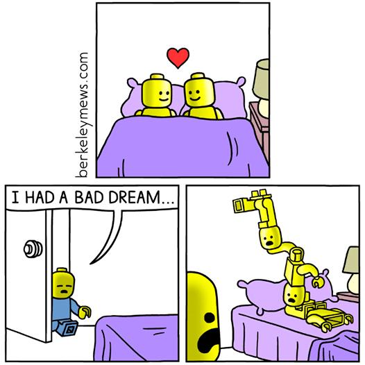 Cartoon - I HAD A BAD DREAM... berkeleymews.com