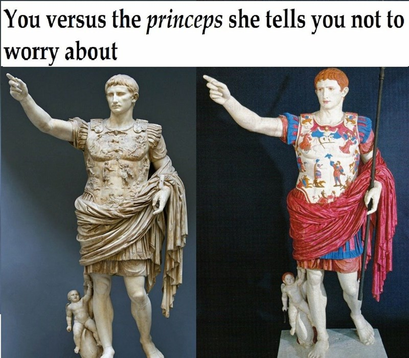 Statue - You versus the princeps she tells not to you worry about