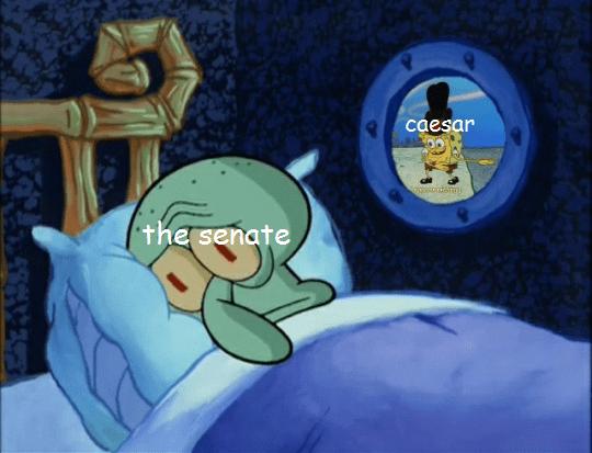 Cartoon - caesar gocecrarm the senate