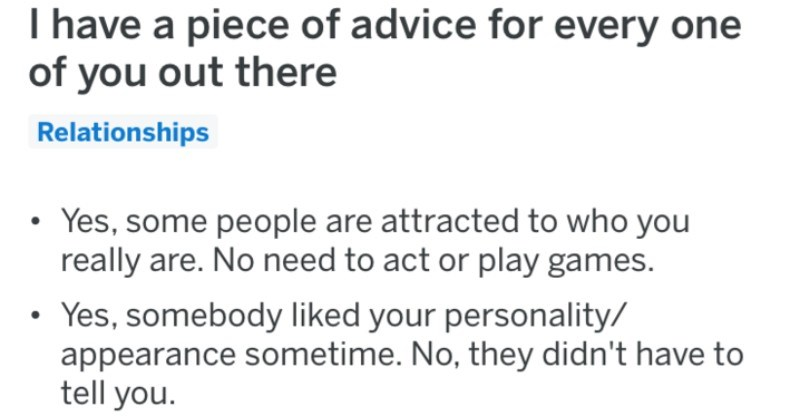 Various pieces of dating advice for people to use before they try out dating sites.