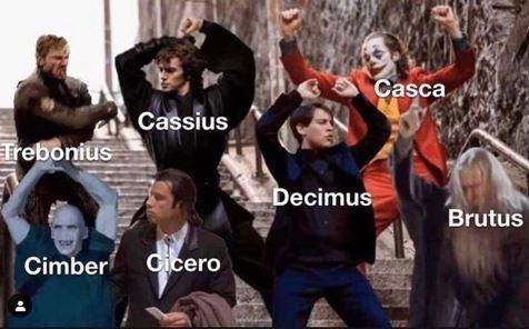 People - Casca Cassius Trebonius Decimus Brutus Cicero Cimber