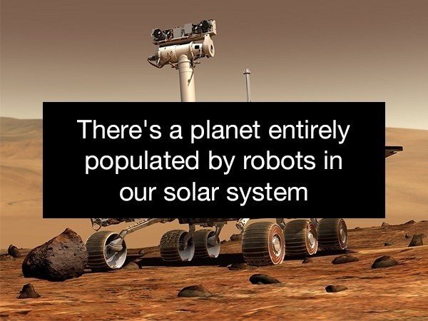 Font - There's a planet entirely populated by robots in our solar system