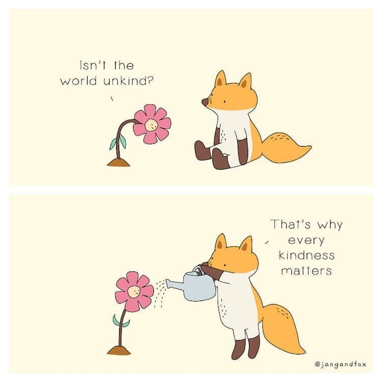 Text - Isn't the world unkind? That's why every kindness matters jangandfox