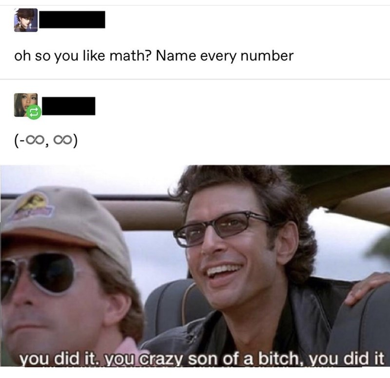 Eyewear - oh so you like math? Name every number (-0o, 00) you did it. you crazy son of a bitch, you did it