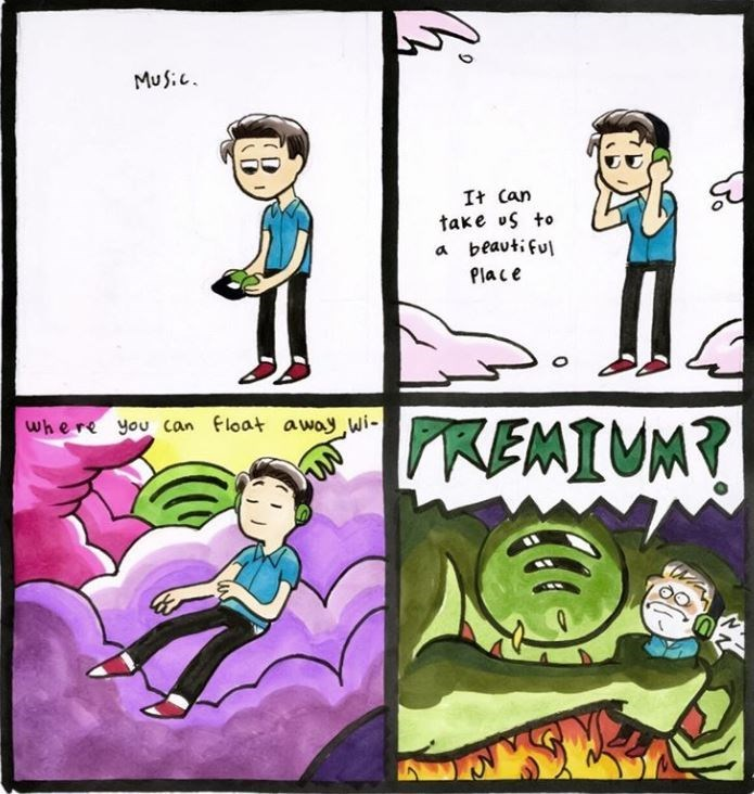 Cartoon - MuS: It Can take uS to beavtiful a Place PREMIUM? Where you can float awoy wi- WIA