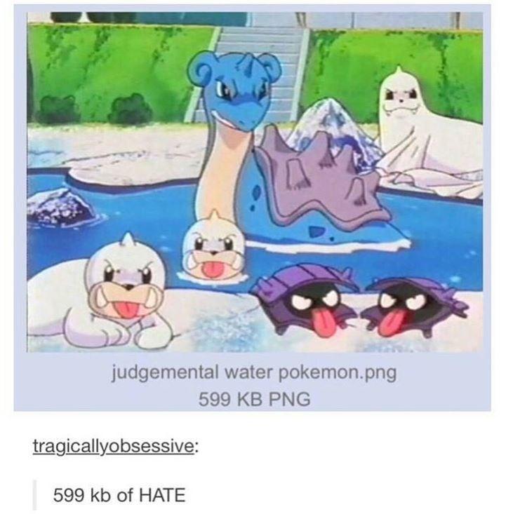 Cartoon - judgemental water pokemon.png 599 KB PNG tragicallyobsessive: 599 kb of HATE