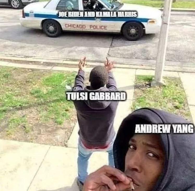 Vehicle door - ABRIS JOE BIDE CHICAGO POLICE TULSI GABBARD ANDREW YANG