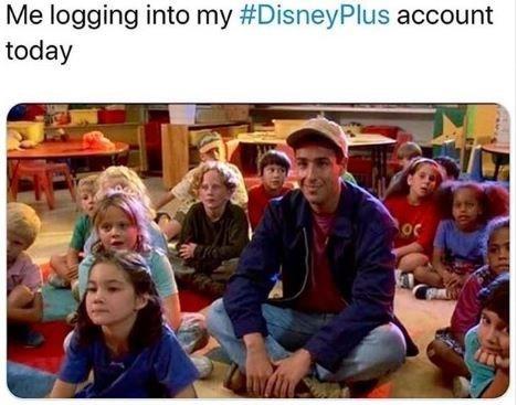 People - Me logging into my #DisneyPlus account today