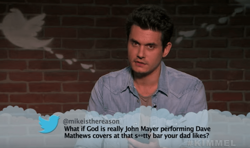 Photograph - @mikeisthereason What if God is really John Mayer performing Dave Mathews covers at that s**tty bar your dad likes? #KIMMEL