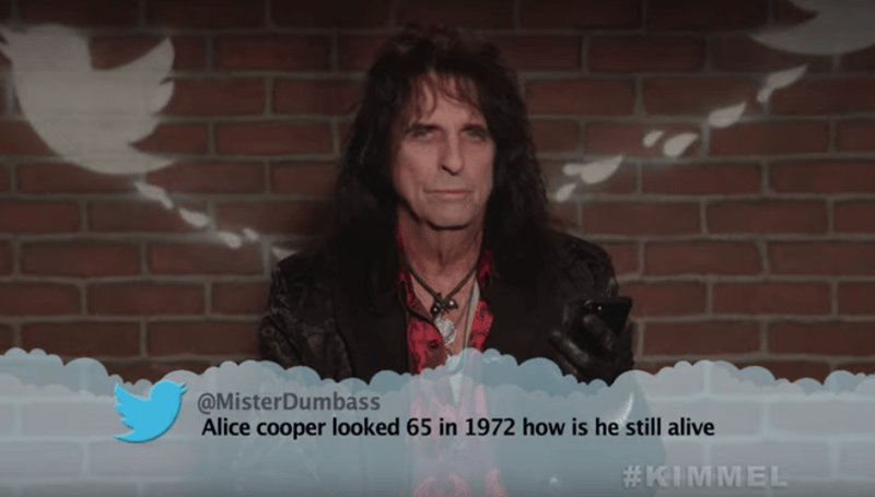 Photograph - @MisterDumbass Alice cooper looked 65 in 1972 how is he still alive #KIMMEL