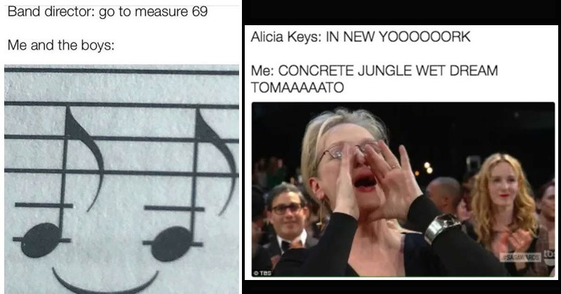 Funny memes about music