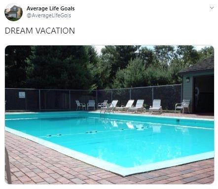 Swimming pool - Average Life Goals @AverageLifeGols DREAM VACATION