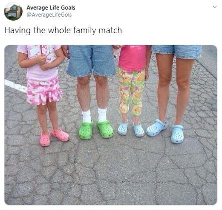 Footwear - Average Life Goals @AverageLifeGols Having the whole family match y