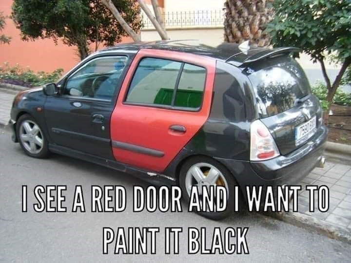 Land vehicle - I SEE A RED DOOR AND I WANT TO PAINT IT BLACK