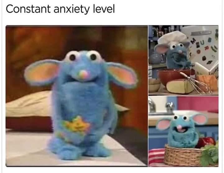 Cartoon - Constant anxiety level