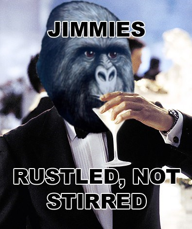 Photo caption - JIMMIES RUSTLED, NOT STIRRED