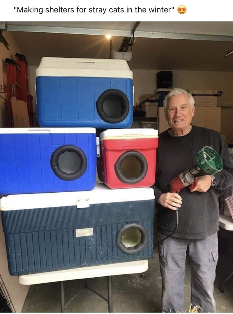 """Subwoofer - """"Making shelters for stray cats in the winter"""" THEHS"""