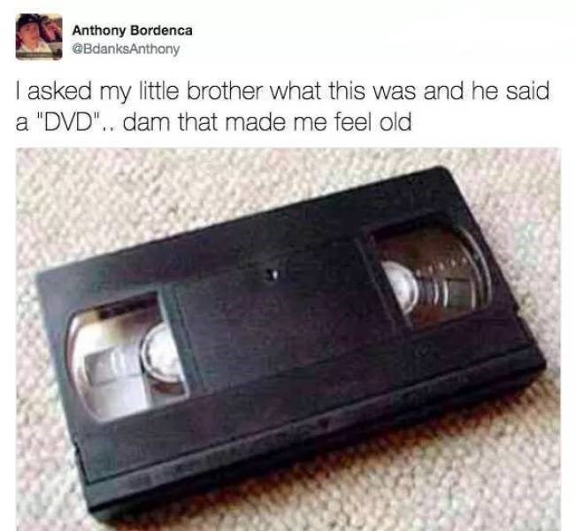 """Technology - Anthony Bordenca BdanksAnthony I asked my little brother what this was and he said """"DVD"""".. dam that made me feel old"""