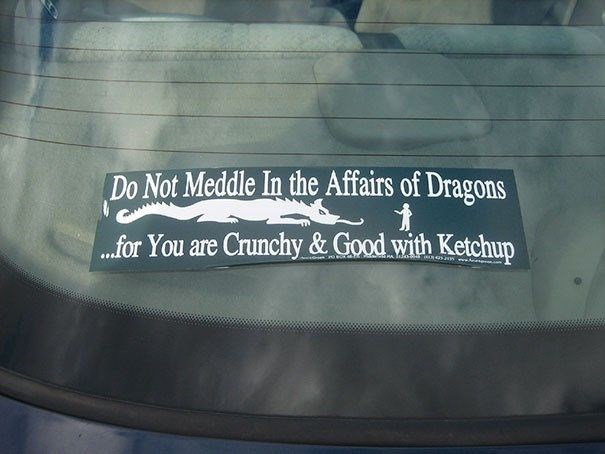 Text - Do Not Meddle In the Affairs of Dragons ...for You are Crunchy & Good with Ketchup