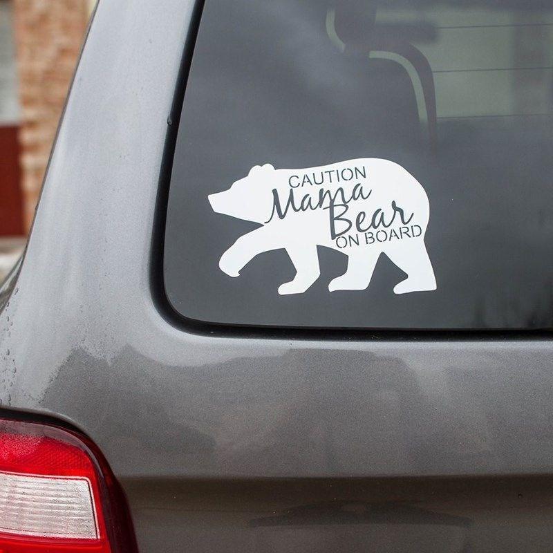 White - CAUTION Mar Bear ON BOARD