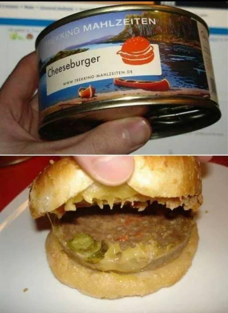 Food - EKKING MAHLZEITEN Cheeseburger www.TREKKING MAHLZEITEN D