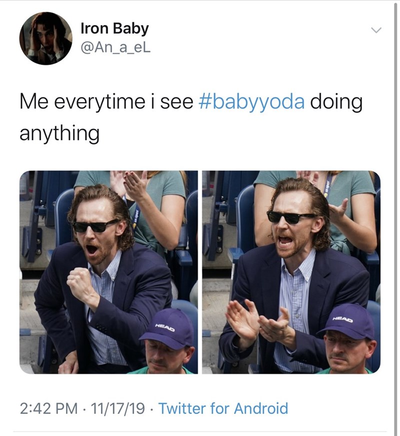 Product - Iron Baby @An_a_eL Me everytime i see #babyyoda doing anything HEEAD HEAD 2:42 PM 11/17/19 Twitter for Android