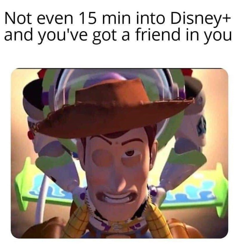 Headgear - Not even 15 min into Disney+ and you've got a friend in you