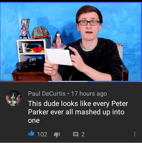 Product - Paul DeCurtis 17 hours ago This dude looks like every Peter Parker ever all mashed up into one 102 目2