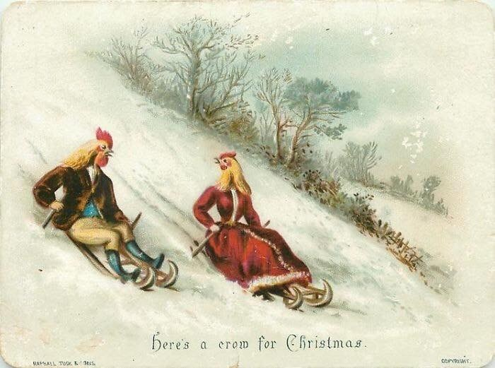Sled - bere's for Christmas a erow corNmMr RAPALL TUGK &3