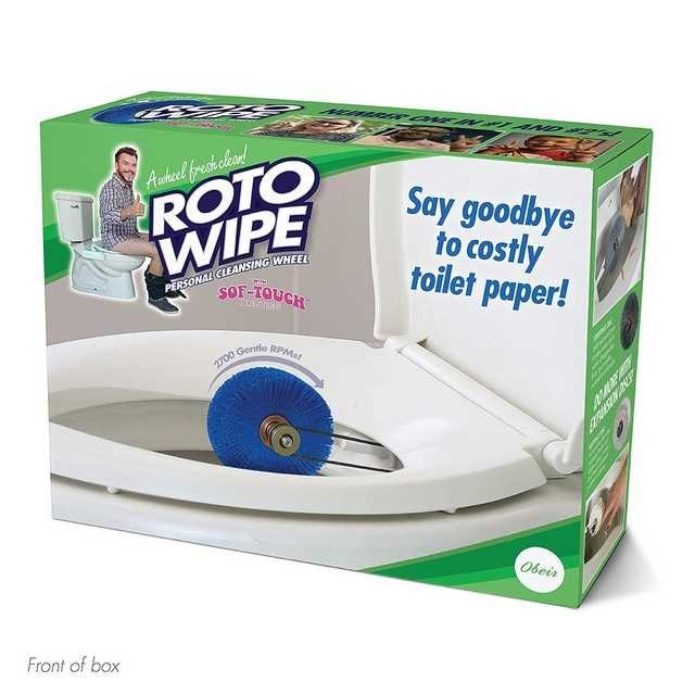 Technology - Aunhecel frecah heand ROTO WIPE Say goodbye to costly toilet paper! PERSONAL CLEANSING WHEEL wie 2700 Gentle RPMS Obeir Front of box