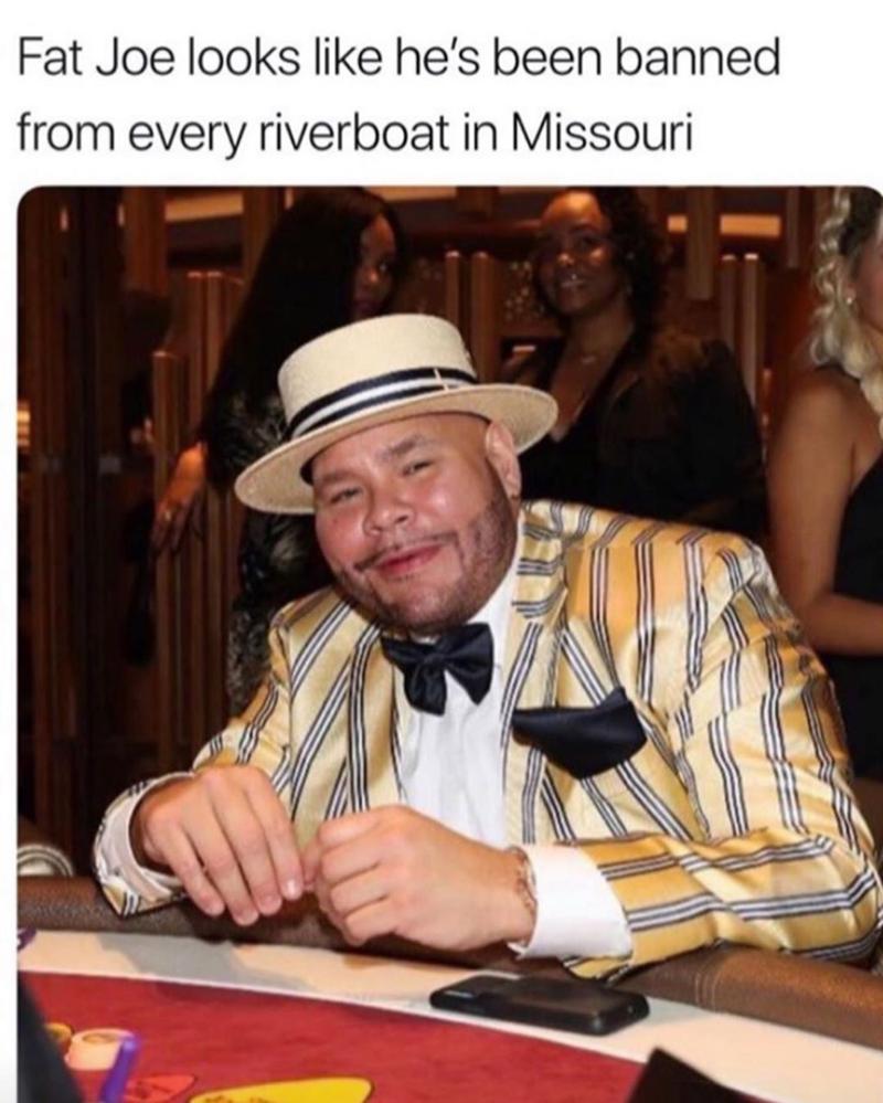 Funny meme about fat joe.