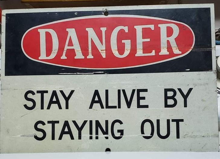 Font - DANGER STAY ALIVE BY STAYING OUT
